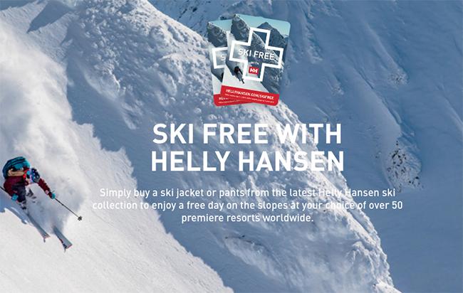 Helly Hansen vuelve a desarrollar su programa Ski Free esta temporada