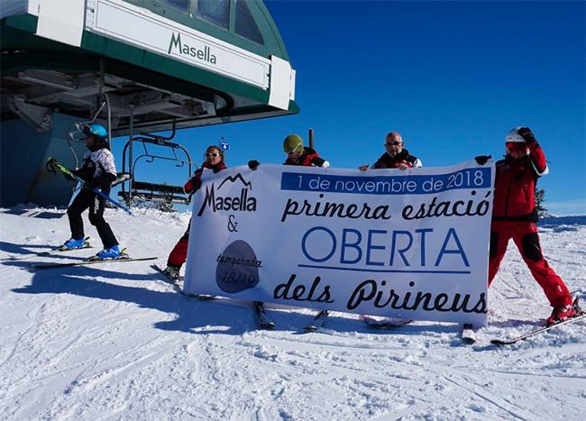 Un total de 16.000 esquiadores estrenan temporada en Masella