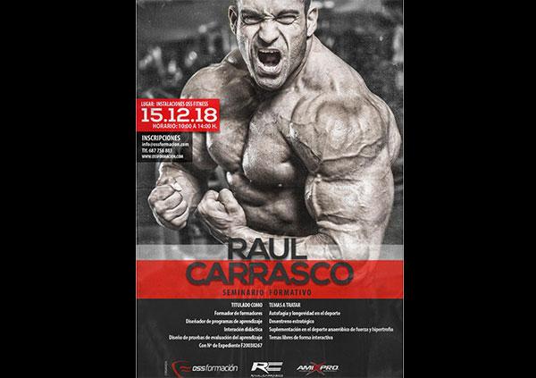 El fisioculturista Raúl Carrasco impartirá un seminario en Oss Formación