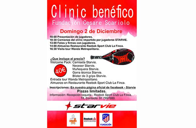 StarVie organiza un clinic en beneficio de la Fundación Cesare Scariolo