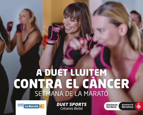Los gimnasios Duet recaudan fondos para la lucha contra el cáncer