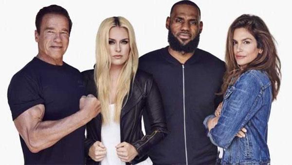 LeBron James, Schwarzenegger, Lindsey Vonn y Cindy Crowford crean la marca Ladder