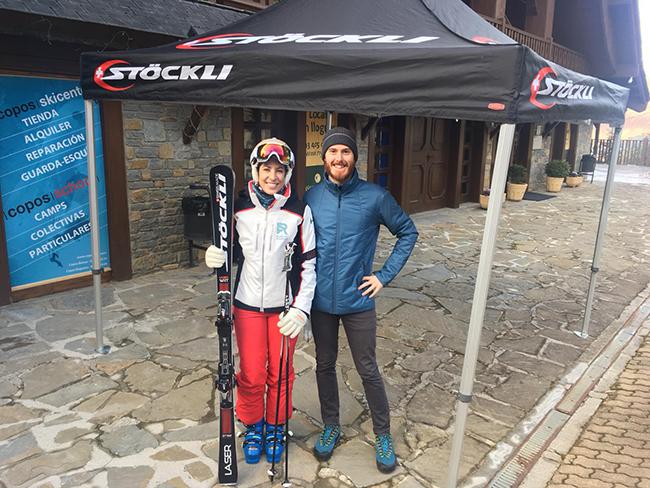 Stöckli celebra sus Experience Days en Baqueira Beret con Carolina Ruiz