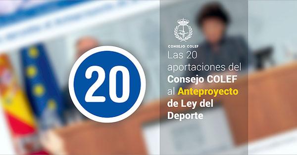 Consejo Colef presenta 20 alegaciones al anteproyecto de la Ley de Deporte