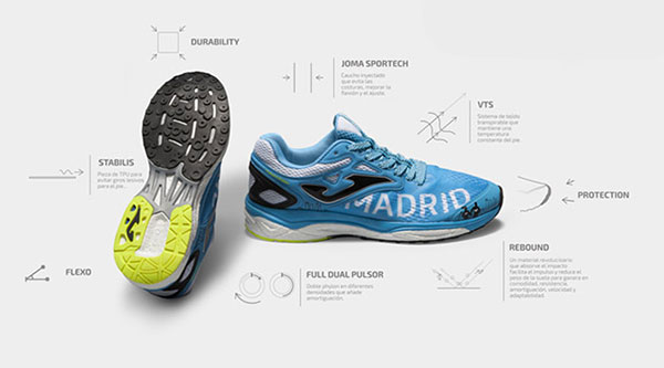Joma lanza dos exclusivas zapatillas para el Movistar Medio Maratón de Madrid