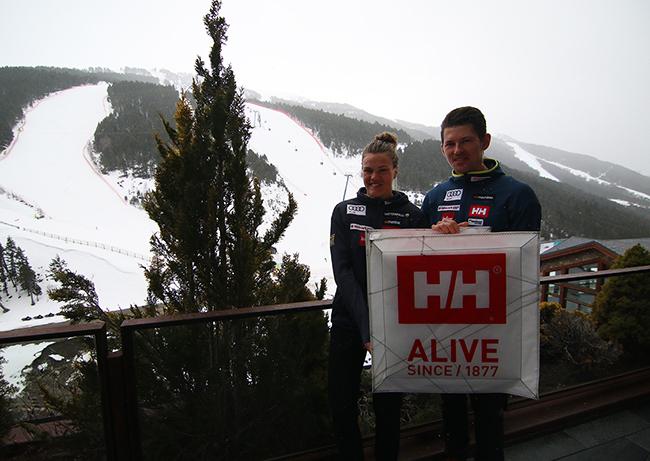 Helly Hansen acompaña a André Myhrer y Anna Swenn Larsson en la Copa del Mundo de Grandvalira