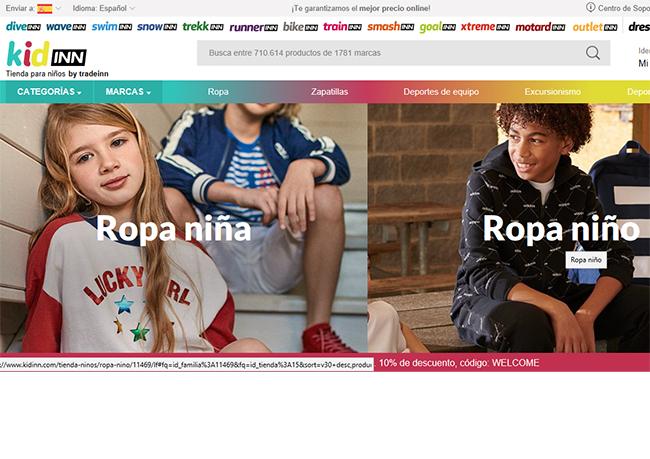 Tradeinn lanza una nueva vertical de moda y deporte infantil
