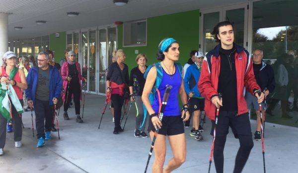 La marcha nórdica une a los gimnasios Mais que Auga e Intersport Vigo