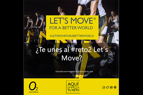 Cinco gimnasios O2 Centro Wellness se suman al reto Let's Move