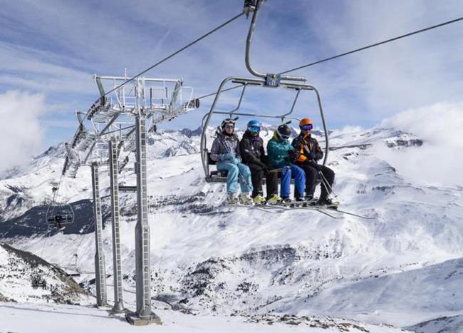 Las estaciones del Grupo Aramón superan el millón de esquiadores