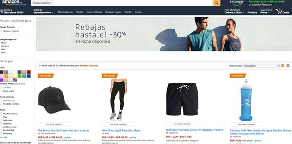 El deporte, donde Amazon saca menos ventaja en precios