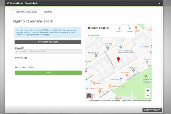 Fitbe incluye un módulo de control del horario laboral por geolocalización