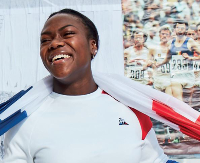 La judoka Clarisse Agbegnenou se une a Le Coq Sportif