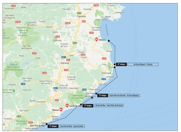 Ignasi Sagristá cubre 53 millas en cuatro días de navegación