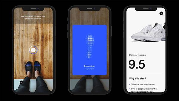 Nike crea una app para saber la talla real de pie