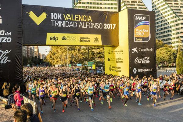 Agotados los dorsales para participar en la última edición del 10K de Valencia