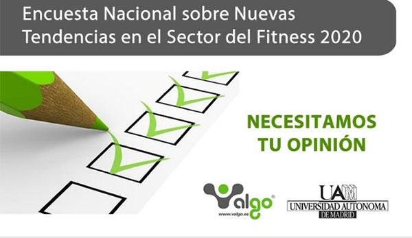 Arranca la encuesta nacional sobre nuevas tendencias del fitness 2020