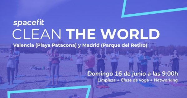 Spacefit organiza 'Clean The World' un evento de yoga y ecología