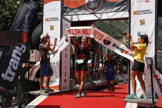 La corredora del Lurbel Team Ana Tauste, vencedora de la Vuelta al Aneto
