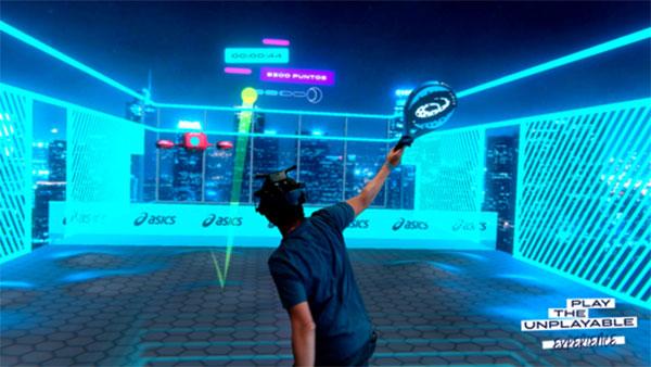 Asics lanza su propio juego de realidad virtual sobre pádel