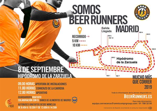 La carrera Beer Runners regresará a Madrid en septiembre