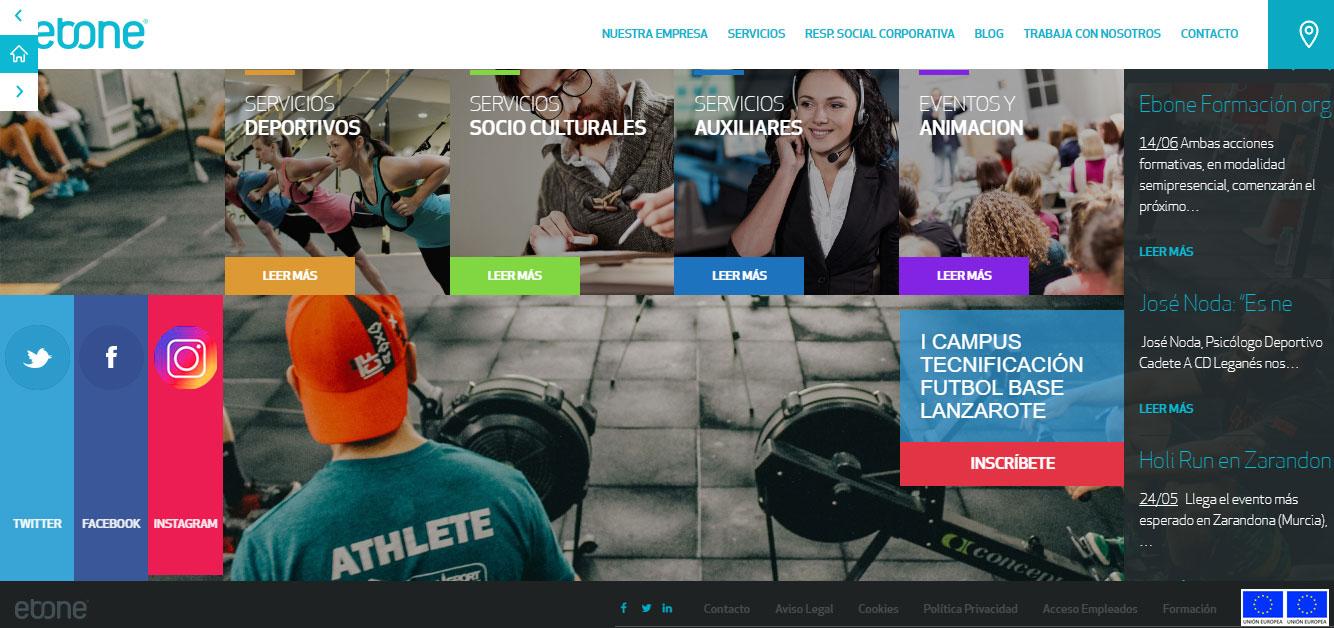 Ebone diversifica hacia la formación, la venta de material deportivo y la organización de eventos