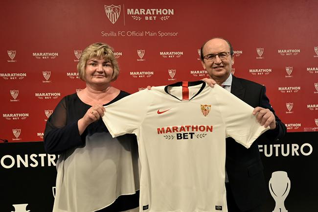 Marathonbet se convierte en el patrocinador principal del Sevilla FC