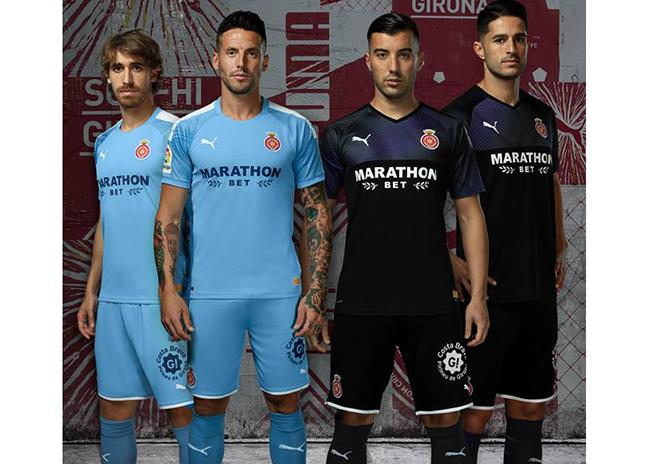 Puma y el Girona desvelan la segunda y la tercera equipación de la próxima temporada