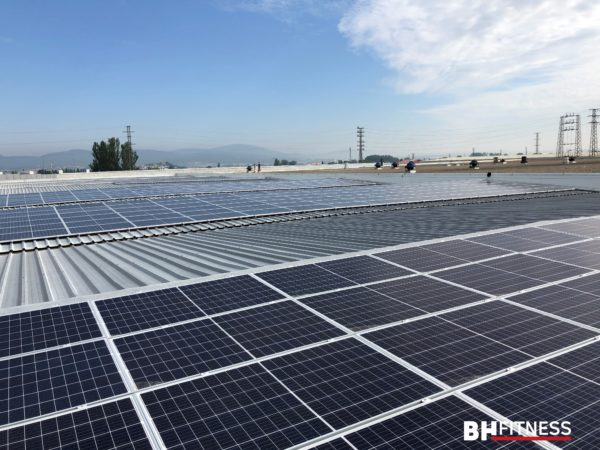 BH Fitness coloca 800 metros cuadrados de paneles solares en sus instalaciones