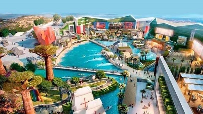 Una piscina de olas y espacios deportivos en el futuro Intu Costa del Sol