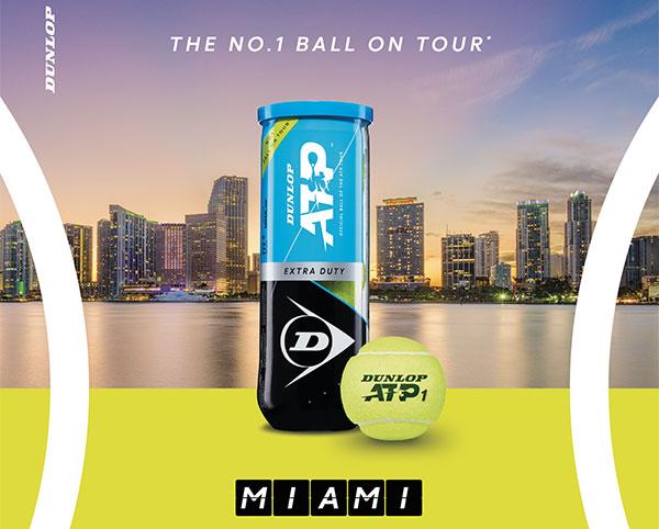 Dunlop se convierte en raqueta y pelota oficial del Miami Open