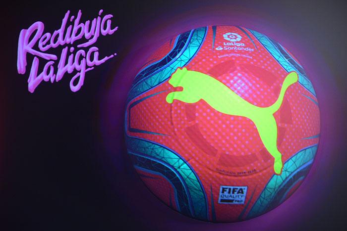 Puma pinta de rosa el balón de invierno de LaLiga