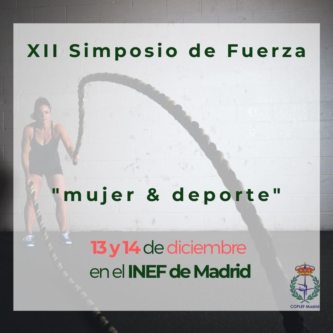El XII Simposio de fuerza se centrará en la relación 'Mujer y Deporte'