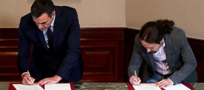 El deporte se cuela escuetamente en el preacuerdo de Gobierno entre PSOE y UP