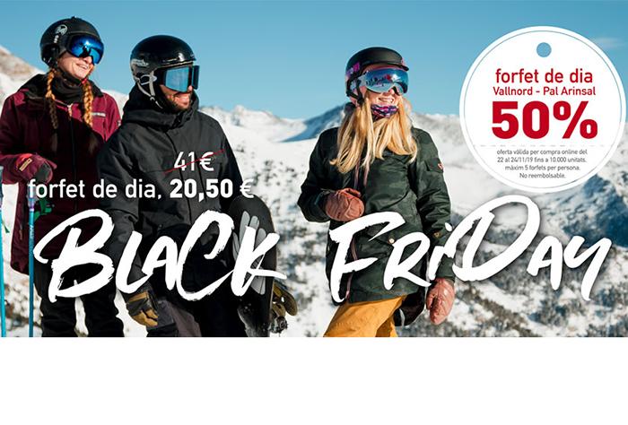 Vallnord Pal-Arinsal celebra el Black Friday con 10.000 forfaits al 50%