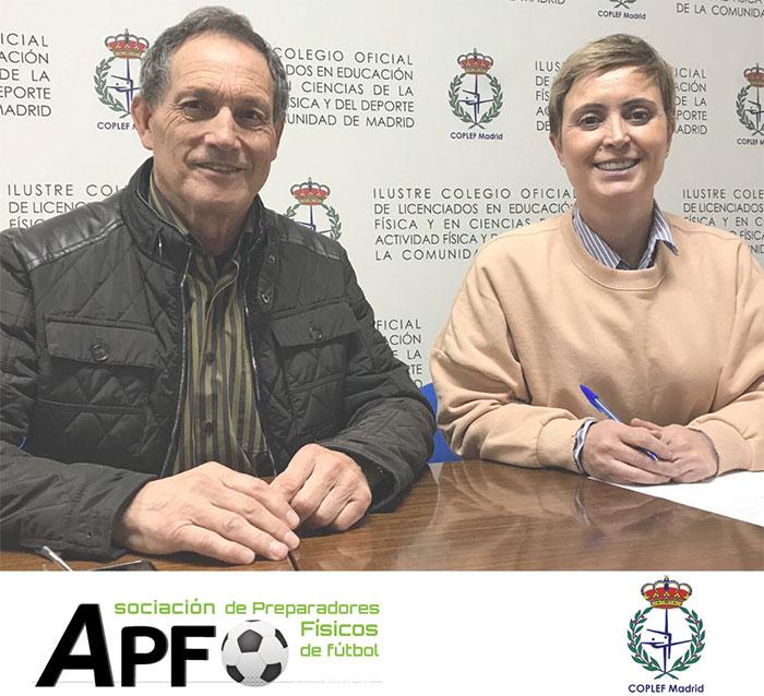 Coplef Madrid renueva su acuerdo con la Asociación de preparadores físicos de fútbol