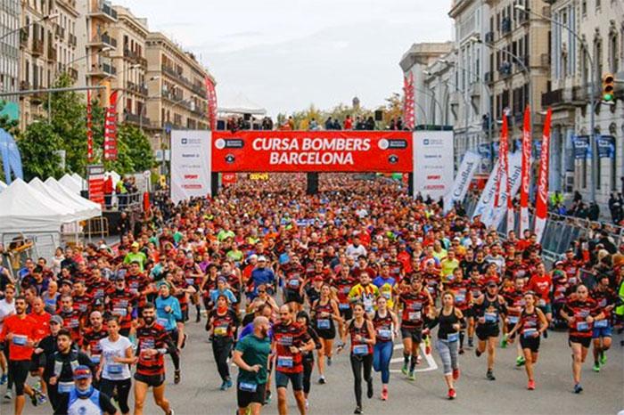 La Cursa de Bombers 2019 reúne a 14.500 corredores en Barcelona