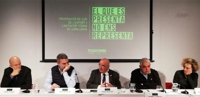 """La plataforma Esport Som Tots llama a la unión del deporte catalán contra """"lo que no nos representa"""""""