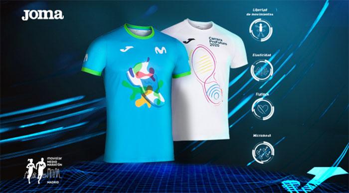 Joma presenta las camisetas oficiales del Movistar Medio Maratón de Madrid y ProFuturo