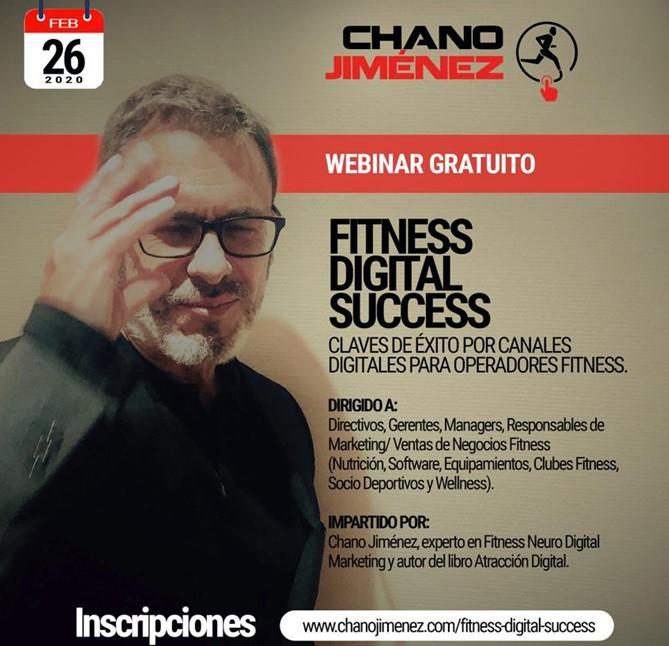 Fitness Digital Succes, nuevo Webinar gratuito de Chano Jiménez
