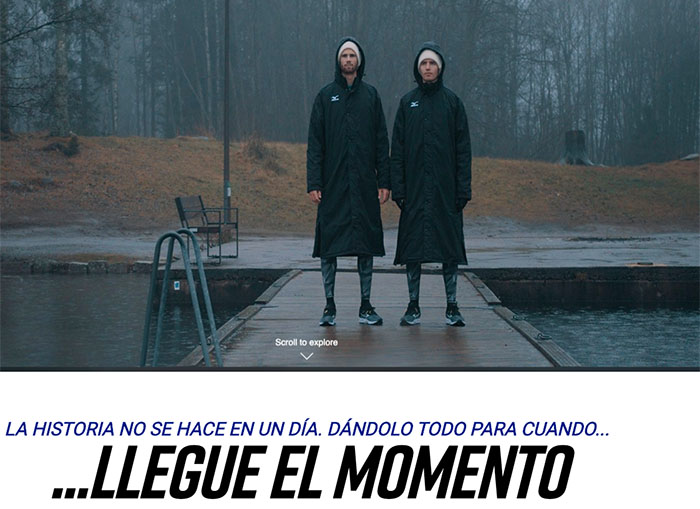 Mizuno homenajea el trabajo previo a las competiciones en 'For The Moment'