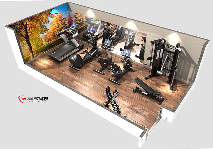 Así será el gimnasio de Oss Fitness en Hostelco