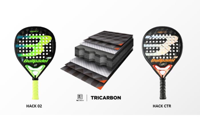 Bullpadel presenta la nueva fibra de carbono combinado Tricarbon