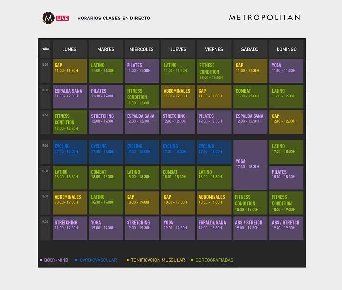 Metropolitan ofrece clases dirigidas gratis a través de sus redes sociales