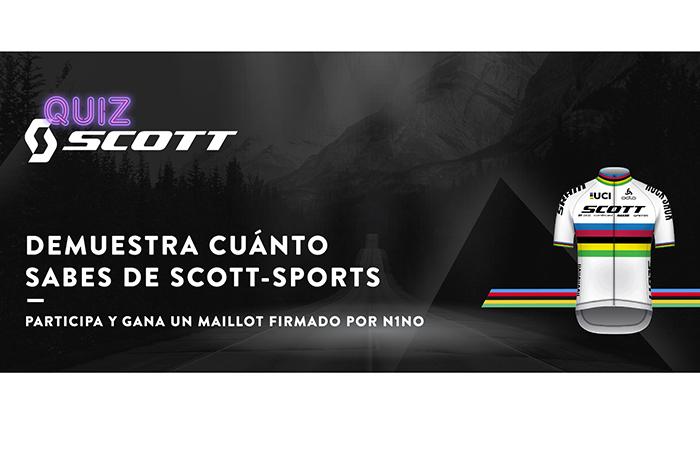 Scott sortea un maillot firmado por Nino Schurter con su quiz semanal