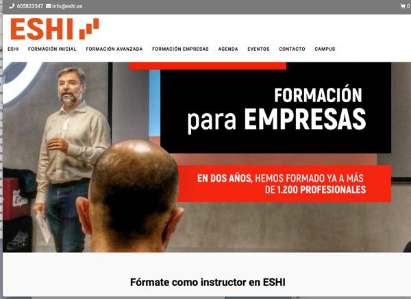 Eshi relanza su web con nuevos servicios