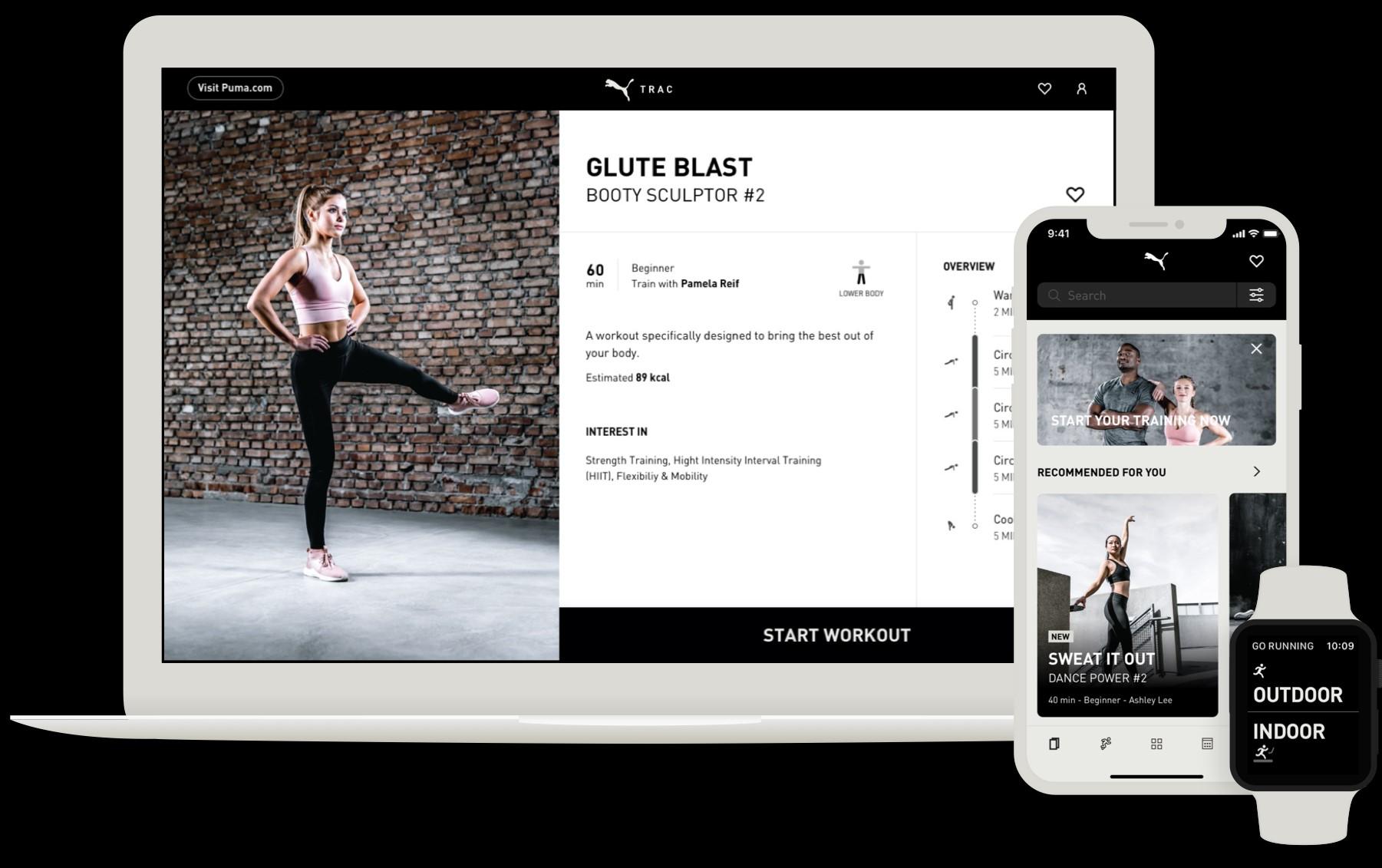 Puma actualiza y amplía su app de entrenamiento, Pumatrac