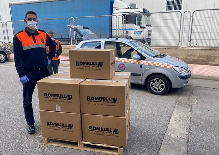 Rombull dona 9.000 metros de goma elástica para fabricar máscaras de protección