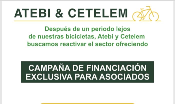 Atebi y Cetelem lanzan una campaña de financiación para impulsar la venta de bicis