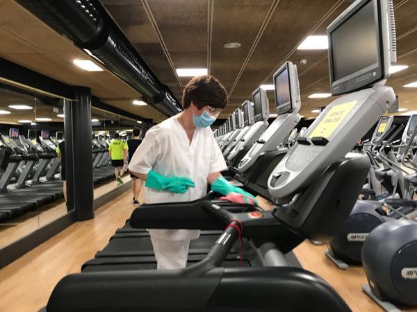 Protocolo de limpieza de gimnasios a partir de su reapertura tras el coronavirus